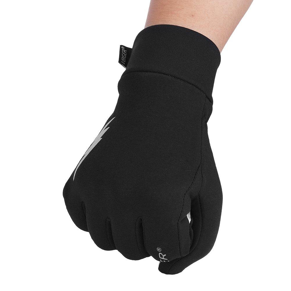 Vibger gants d\'hiver gants professionnels à l\'écran tactile Gants sport d\'hiver Running Gants en vélo pour hommes et femmes, Noir 1, Large