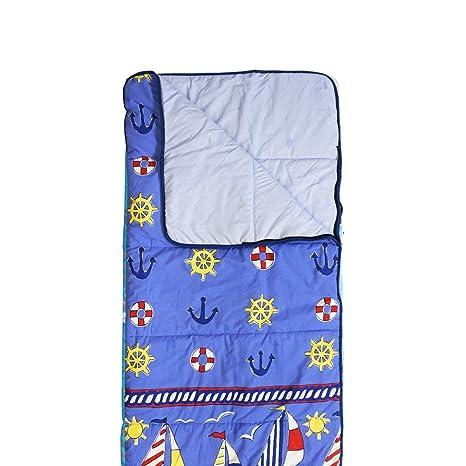 Hosa - Saco de Dormir Infantil Barcos Azul Estampado