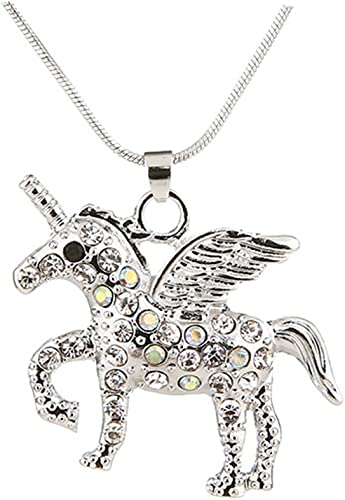 Men/'s Pegasus Flying Horse Stainless Steel Pendant Necklace with Bead Chain