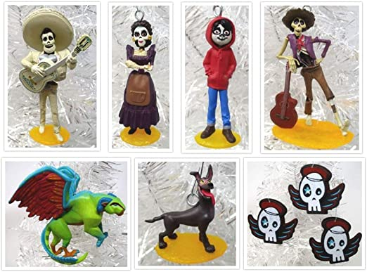 Hector COCO 6 Piece Day of the Dead Christmas Ornaments w Miguel Dante /& More