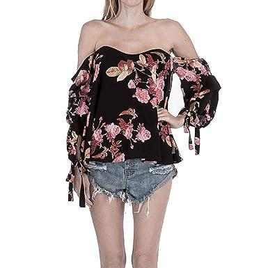 Battercake Mujer Chiffon Camisas Verano Elegante Moda Vintage ...