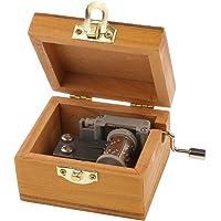 Generic Tiny Scenery Wood Music Box Hand-Cranked Melody Box