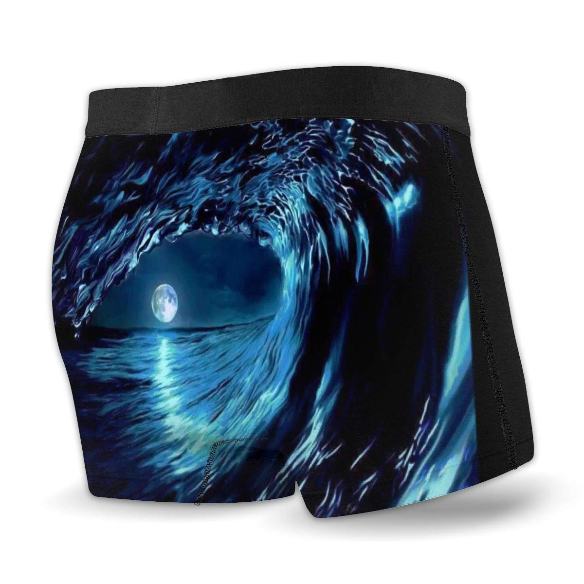 Mens Colored Moon Starry Sky Athletic Underwear Cotton Stretch Boxer Brief