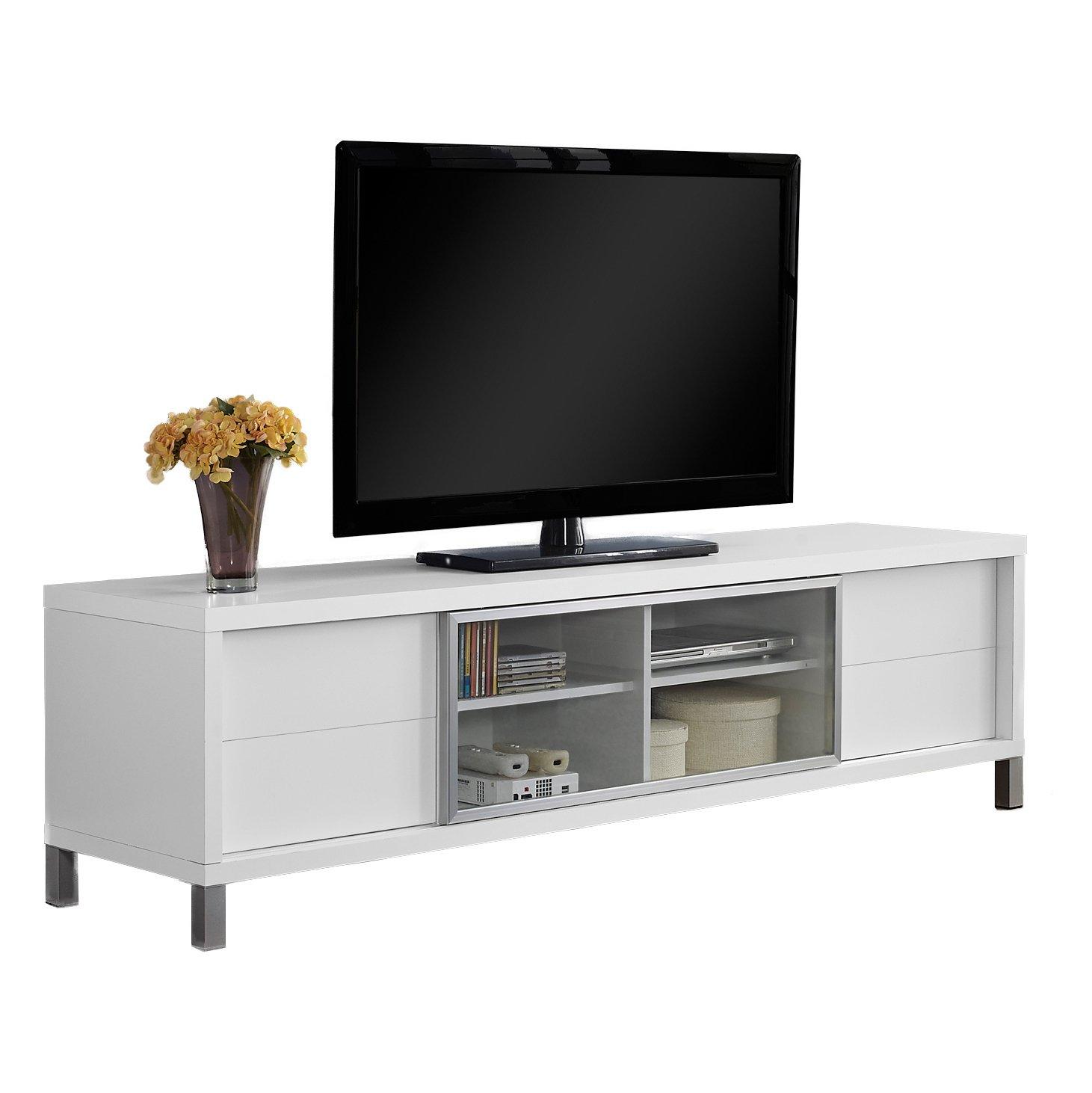 Monarch Specialties I 2537, TV Console, Euro Style, White, 70