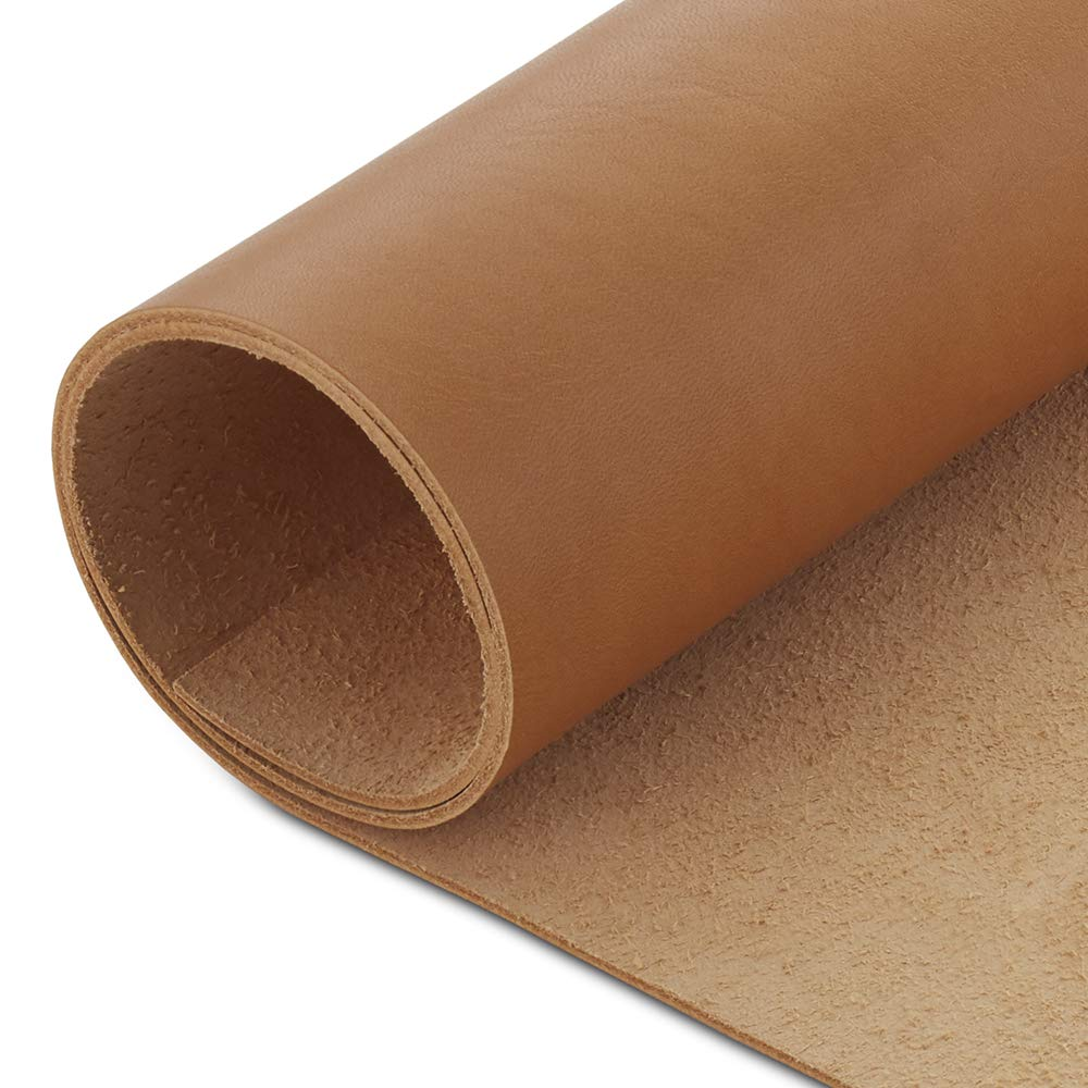 Cowhide Leather Sheet 1.6-2.0mm 4 x 4 Vegetable Tanned Tooling Leather Pack of 2 CP 4-5 oz Leather Hide