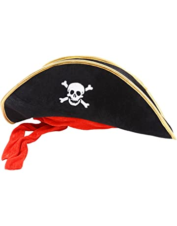 98760bff097f8a Wicked Costumes Pirate Hat Black Outfit Accessory for Caribbean Fancy Dres