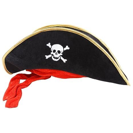 vari stili super qualità alta moda Wicked Costumes - Grande cappello da pirata in velluto, con ...