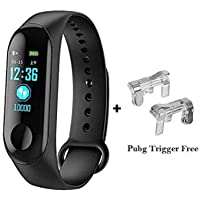 Goofy M3 Smart Band Fitness Tracker Watch Heart Rate with Activity Tracker Waterproof Body Functions Like Steps Counter, Calorie Counter, Blood Pressure, Heart Rate Monitor LED Touchscreen