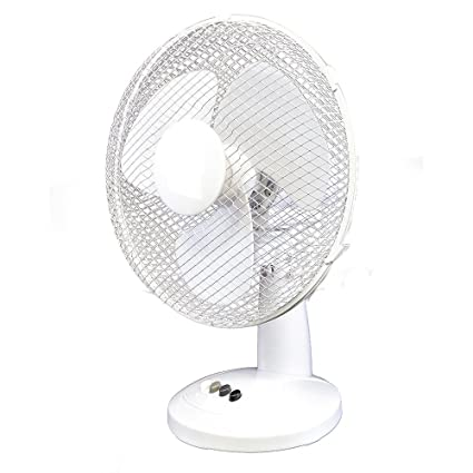 9 Inch, White, 2 Speed XFORT Desk Fan 2 Speed Silent & Compact Cooling Fan 9 Inch Oscillating Desk Fan A Must Have Essential For Summer