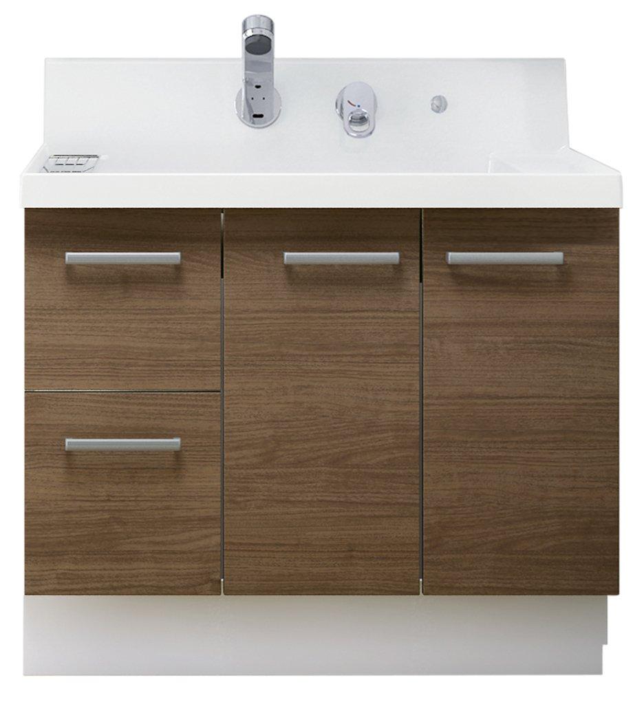 LIXIL(リクシル) INAX 洗面化粧台 K1シリーズ 間口900 片引出 クリエモカ K1H3-905SY/LM2H B01MXRIE9D クリエモカ