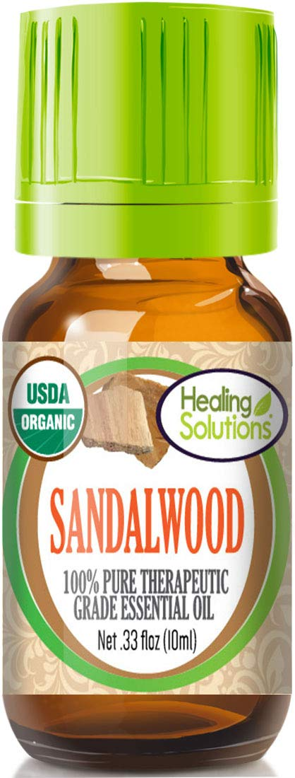 Organic Sandalwood Australian Essential Oil (100% Pure - USDA Certified Organic) Best Therapeutic Grade Essential Oil - 10ml