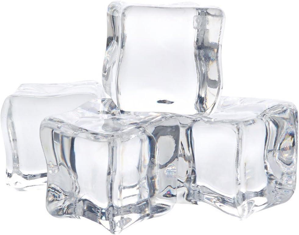 12 Pcs Acrylique Gla/çon Artificielle Gla/çons Faux Cristal pour Whisky Photographie F/ête Mariage Deco 2 cm