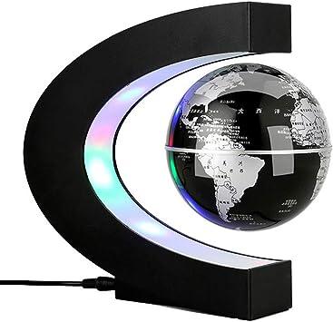 Globe Magnetic Levitation Rotating World Map Globe with LED Light Decor Gifts