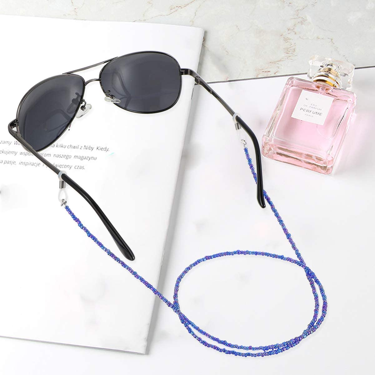 Healifty 4 St/ück Brillenband Brillenhalter Brillenschnurhalter Wiederverwendbare Brillenschn/üre rutschfeste Brillenketten f/ür Den Radsport im Freien