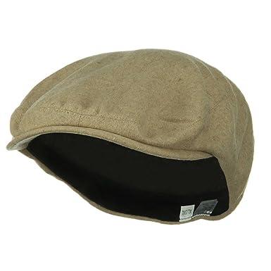 Big Size Elastic Wool Ivy Cap (for Big Head) Beige at Amazon Men s ... 485492e8fb4