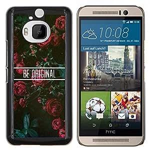 Eason Shop / Premium SLIM PC / Aliminium Casa Carcasa Funda Case Bandera Cover - Rosas floral motivación - For HTC One M9+ M9 Plus