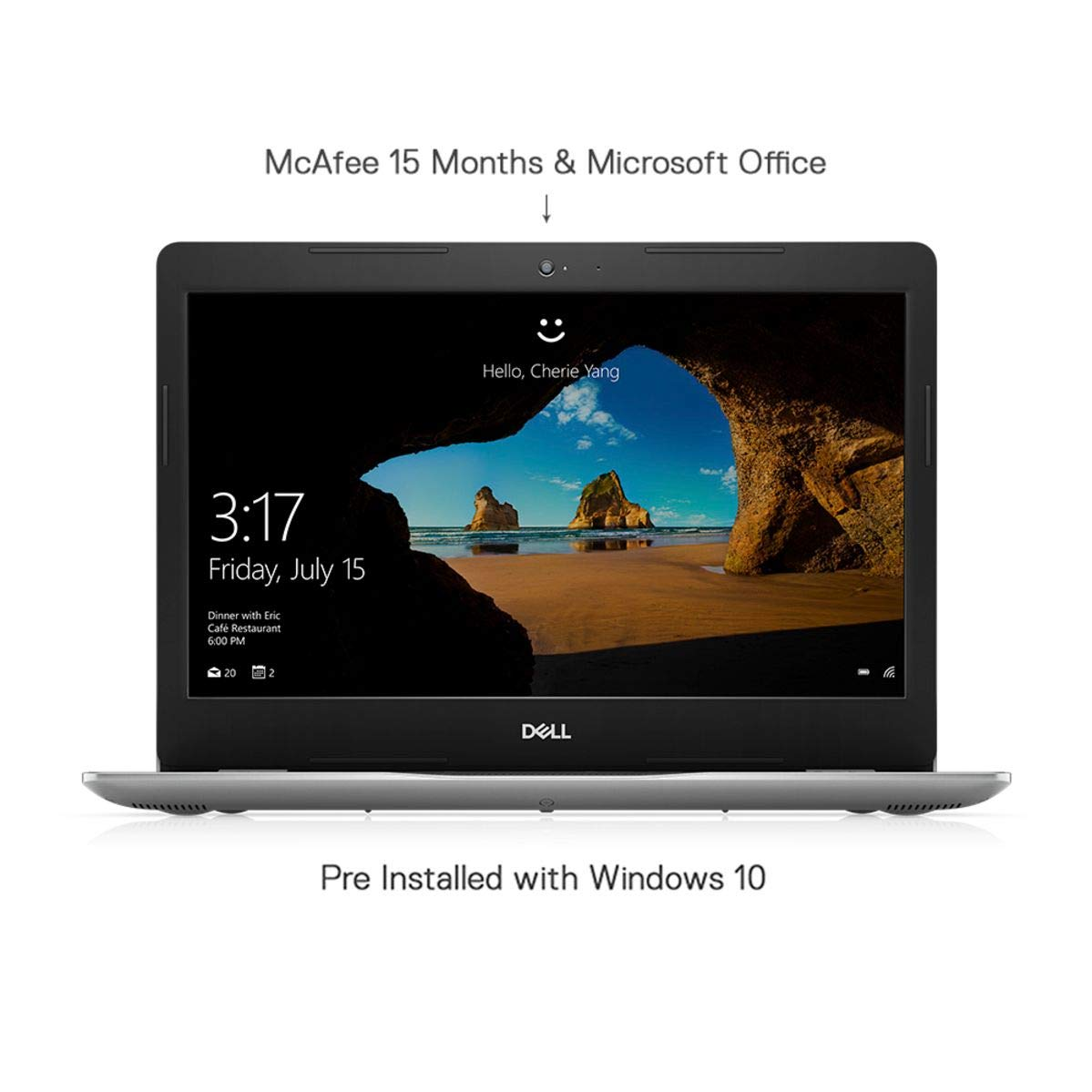 Dell Inspiron 3493 14-inch HD Laptop (10th Gen i3-1005G1/4GB/1TB HDD/Win 10 + MS Office/Intel HD Graphics/Silver) D560193WIN9SE - EMI Start at