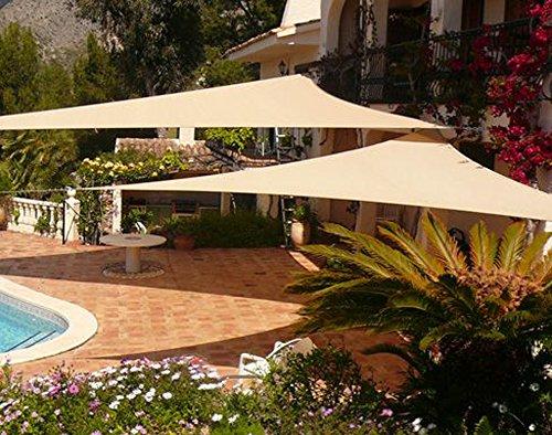 Decks Clothes (Shade&Beyond Sun Shade Sail Triangle 15'x15'x21' Patio Sunshade Sail for Patio Lawn Deck Sand Color)