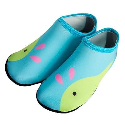 WARMSHOP Unisex Boys Girls Cartoon Water Sport Scratche Non-Slip Shoes Seaside Swim Diving Socks