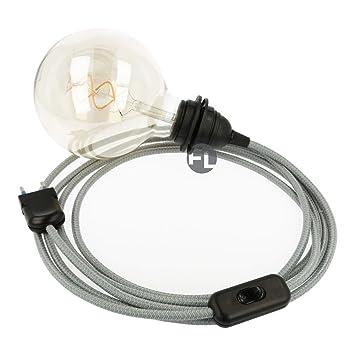 1x E27 Lampenfassung Steckdose mit Schalter und 360° Flexibel Schwanenhals