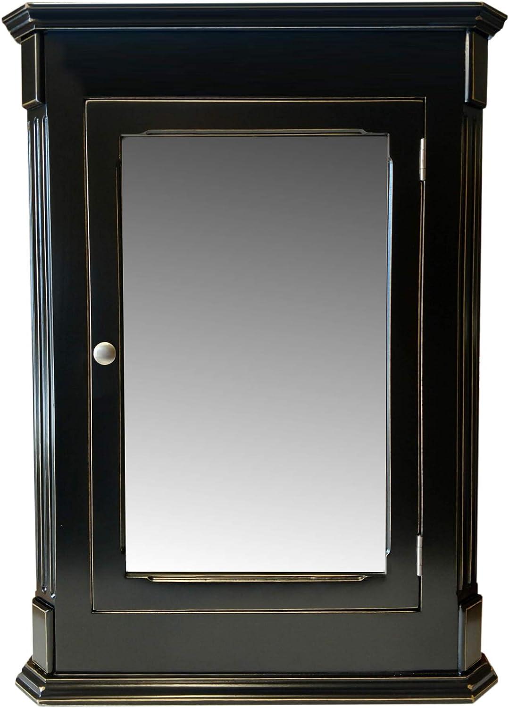 Amazon Com Ludwig Black Vintage Recessed Medicine Cabinet Solid Wood Handmade Kitchen Dining