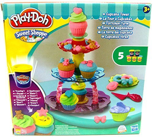 play dough cupcake tower - 3