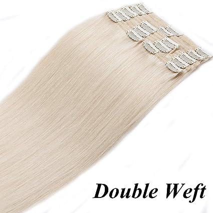 Extensiones de Cabello Natural Clip Double Weft(Muy Gruesas) Pelo Natural Humano 100%