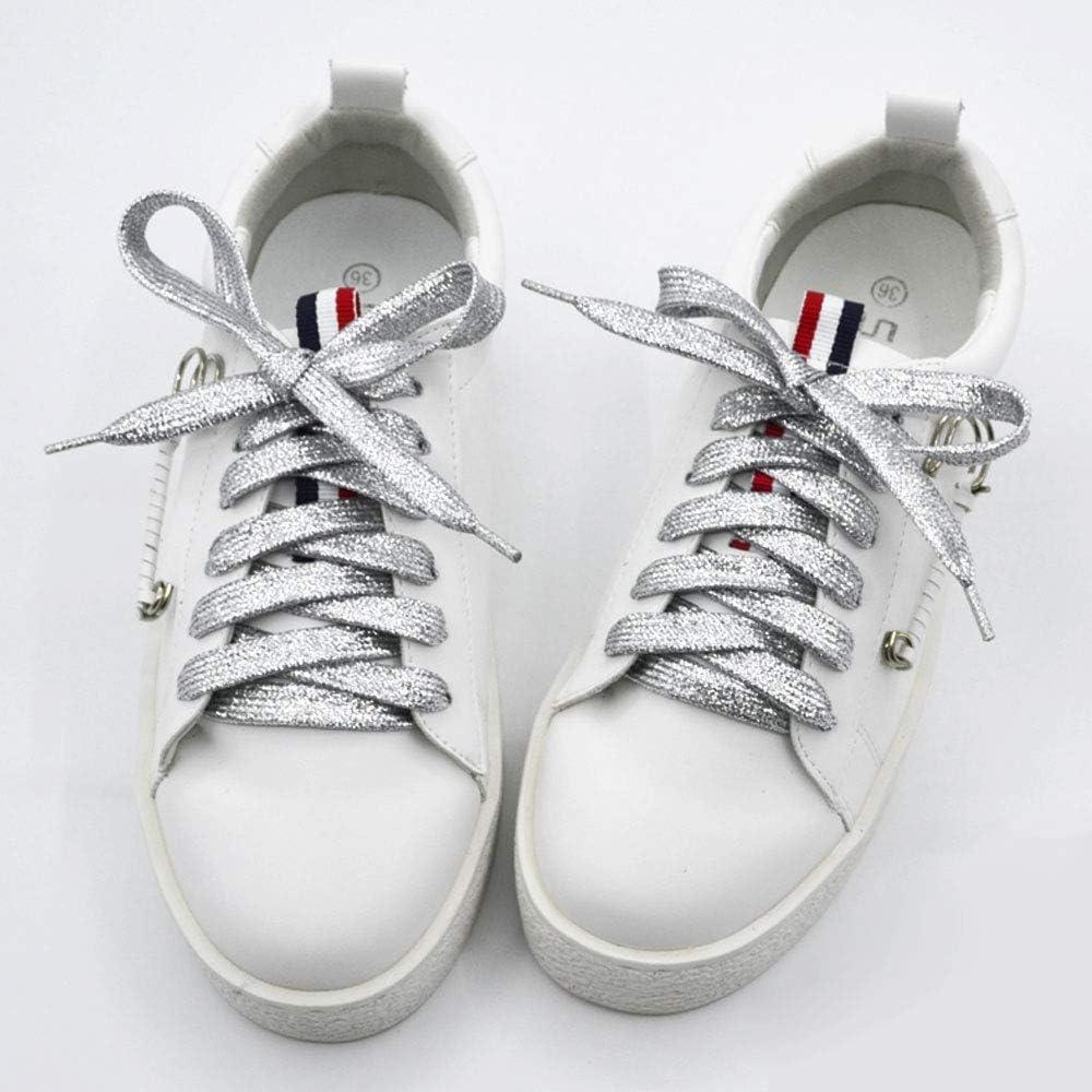 Lacci per Scarpe Glitter,Egurs 16 Paia 110cm Colorati Piatti Lacci Glitter Scarpe per Scarpe da Ginnastica Scarpe da Ginnastica sport in Tela 16 Colori