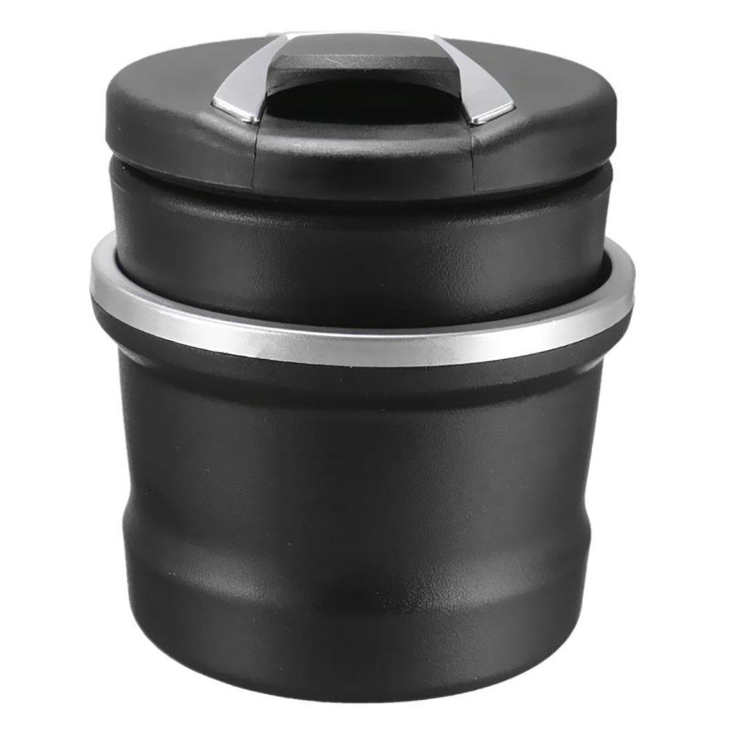 Fansport Auto Aschenbecher Zigarettenaschenbecher Tragbare Abnehmbare 2 in 1 Zylinder Cup Holder mit LED Licht