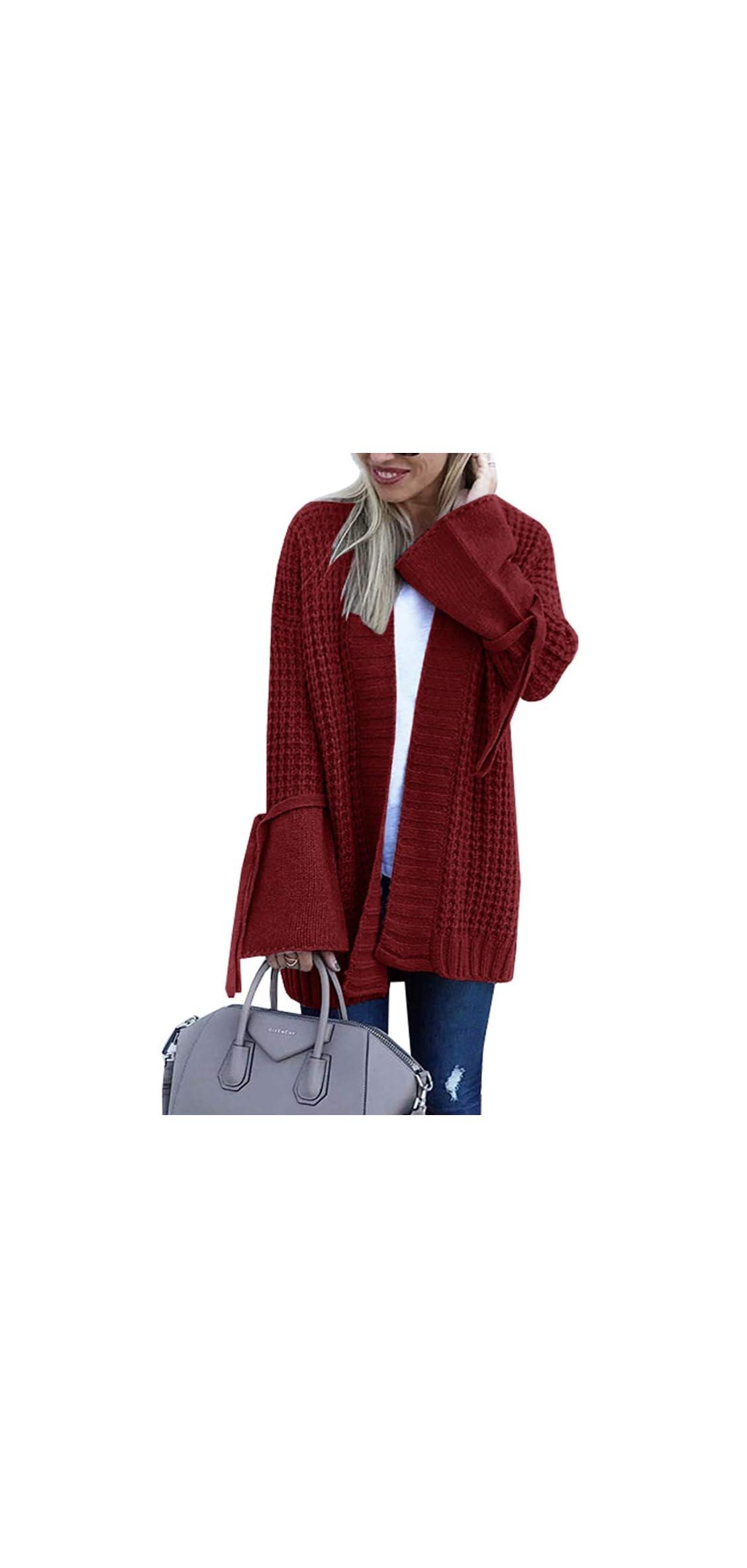 Womens Long Cardigan Sweaters Open Front Duster Long