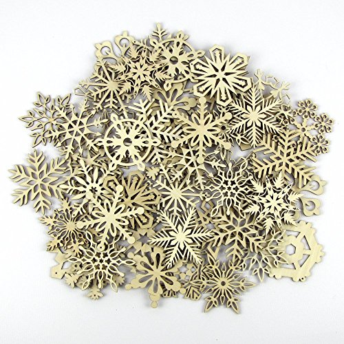 Bulk 3 Inch Wood Snowflakes - Laser Cut and Sanded by The Crafty Smiths