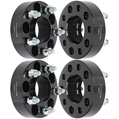 "TUPARTS 4pcs 1.5"" 5x4.5 to 5x4.5 hubcentric Wheel Spacers 5x114.3mm 70.5 fits for Ford Explorer Ford Mustang Ford Edge with 1/2"": Automotive"