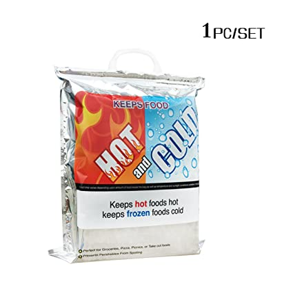 a11077791 Image Unavailable. Image not available for. Color: Thermal Insulated Bag (Hot  Cold Bag) Food Storage & Carry Bags Reusable Lunch Bags