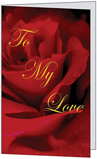 Amazon.com: Sweet Dear Rose Romantic Love Him Husband Her Wife Spouse Friend Beautiful Anniversary Birthday Greetiing Card 5x7 by QuickieCards: Health & Personal Care