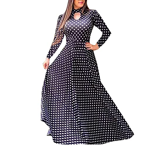 2b4fc1187c597 Women Dress, Women Casual Dresses Womens Fashion Casual Floral Printed Maxi  Dress Short Sleeve Party Long Dress