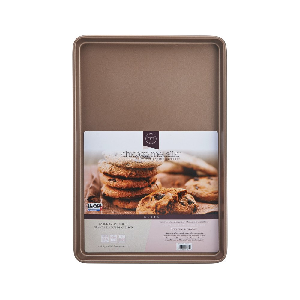 Chicago Metallic 5212099 Elite Non-Stick Carbon Steel Large Cookie/Baking Sheet, 17-Inch-by-11.25-Inch, Bronze by Chicago Metallic (Image #4)