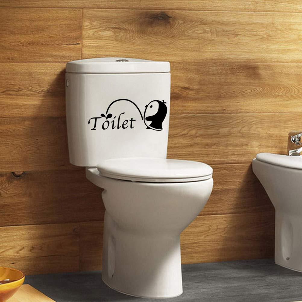 TOPBATHY 2pcs Autocollants de Toilette Autocollants de Salle de Bains Amovible Stickers muraux imperm/éables pour Toilettes Salle de Bains