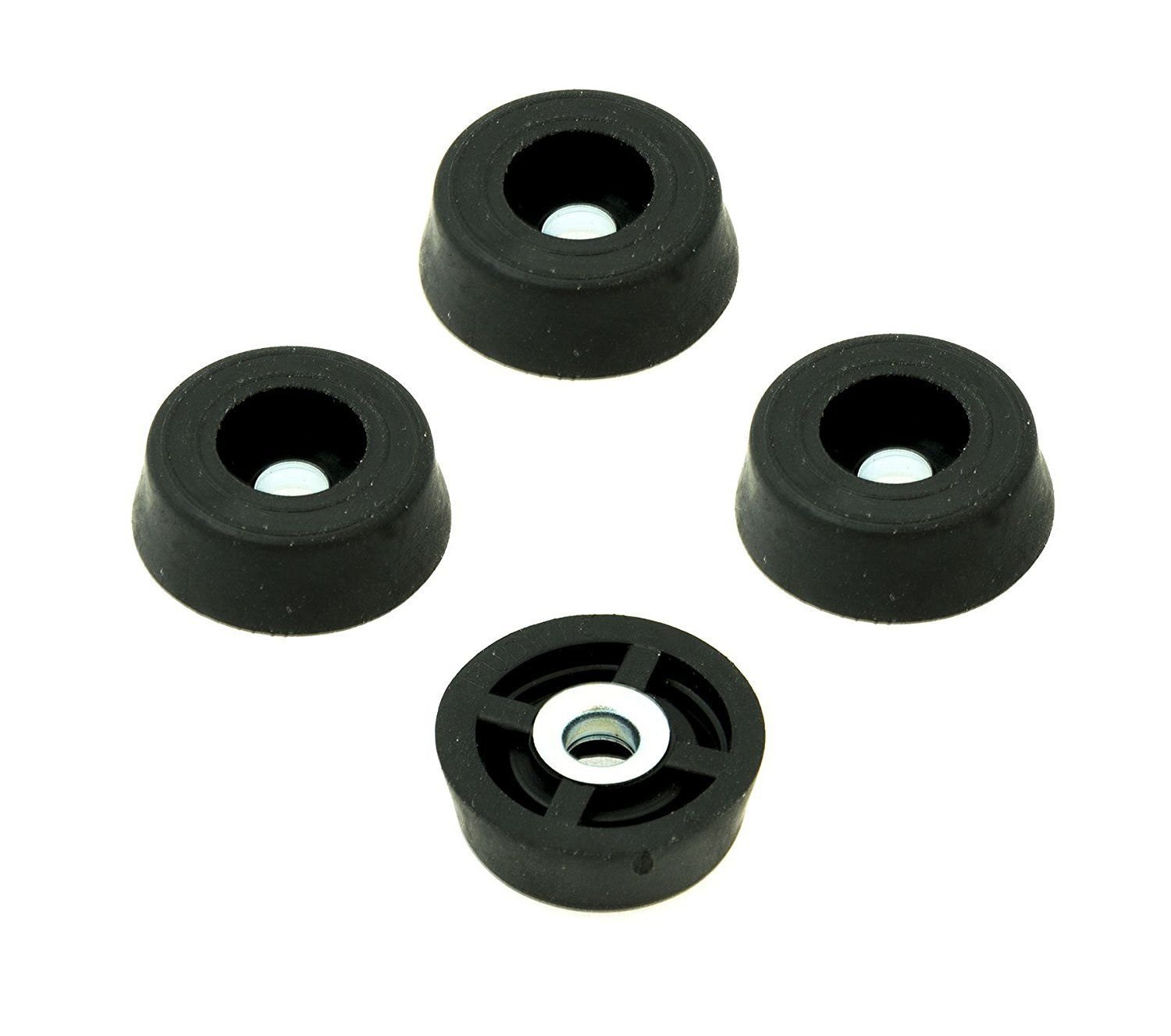 250 Small Round Rubber Feet W/Screws - .250 H X .671 D - Made in USA - Food Safe Cutting Boards Electronics Crafts # by Rubberfeet US (Image #3)
