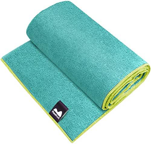 Reehut Hot Yoga Towel - Microfiber Bikram Towel for Workout, Fitness and Pilates