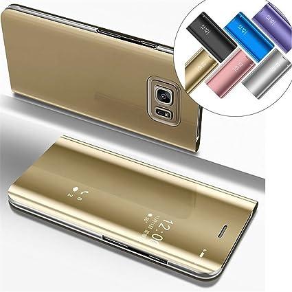 Amazon.com: Galaxy Note 5 funda leecoco visión clara de lujo ...