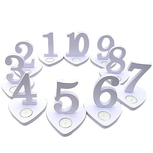 YlRNhe Soporte para números de Mesa de Boda, 1 - 10 candelabros ...
