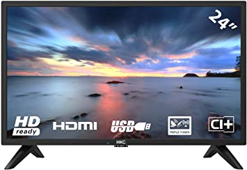 HKC 24F1D HD LED TV 60 cm (24 Pulgadas HD TV), Ci+, HDMI+USB, Triple Tuner, 60Hz, Mediaplayer: Amazon.es: Electrónica