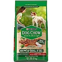 Dog Chow sin Colorantes con Extralife Adultos Medianos y Grandes 20kg, Pollo