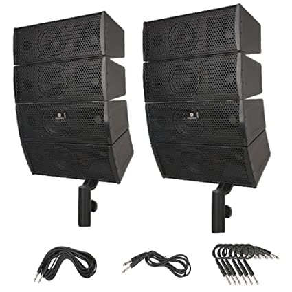 Terrific Amazon Com Proreck Club A 4X4 Passive Line Array Speaker System Wiring Digital Resources Indicompassionincorg