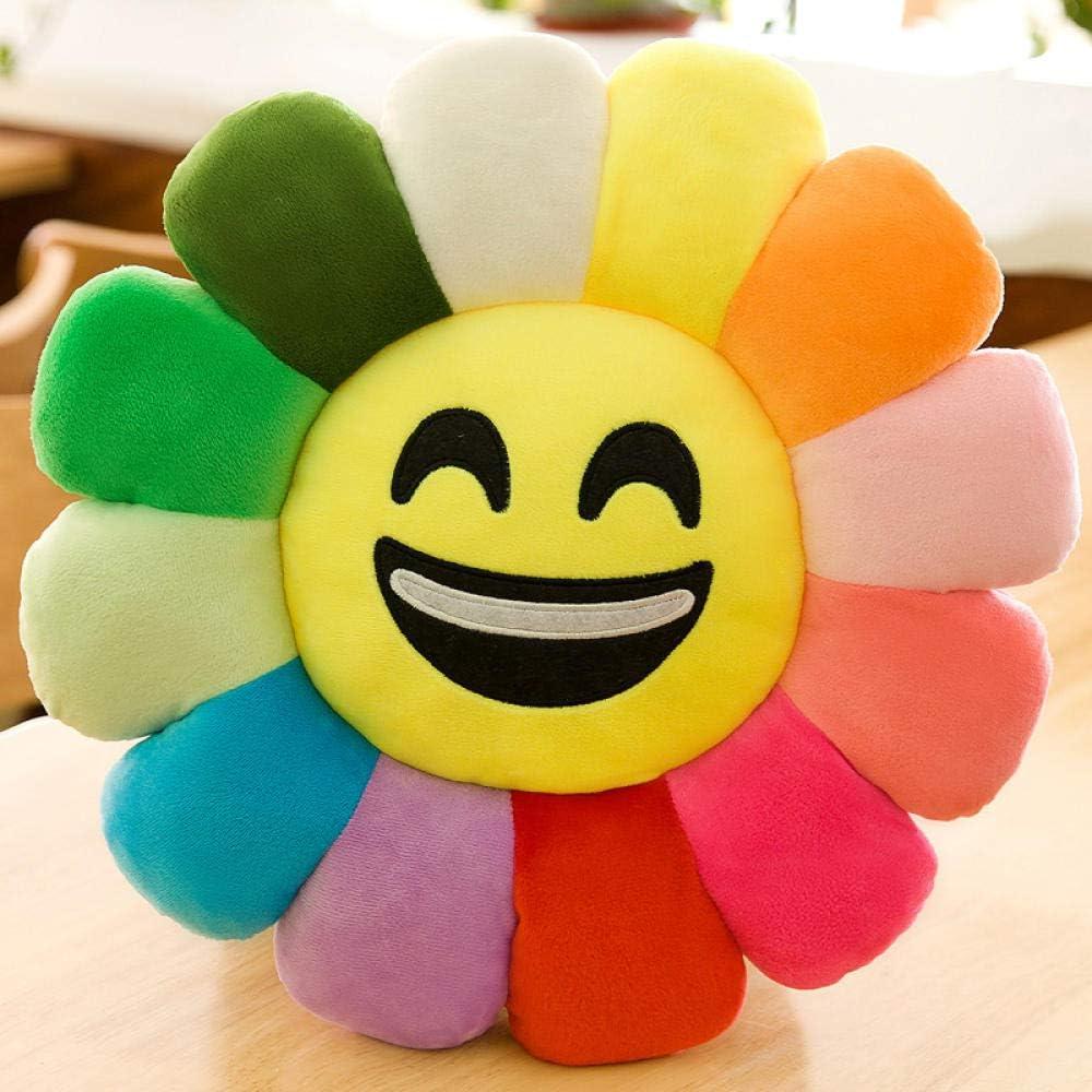 expression du baiser/_40 cm coussin de tournesol jouet en peluche fille de cadeau danniversaire Ragdoll@Fleur de soleil color/ée Coussin de fleur de soleil color/é tissu super doux fleur Smiley