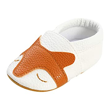 Amazon.com: Zapatos de piel para bebé con dibujos animados ...