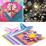 "YG_Oline 50 Pcs 10"" Sparkly Origami Paper, 10"