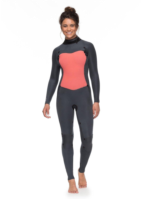 Roxy 4/3mm Syncro Series - Traje de Surf GBS con Cremallera en la Espalda para Mujer