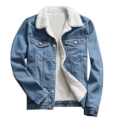 buy online a2ddd 54a06 Jeansjacke Mit Fell, Bluelucon Damen Freizeit Denim ...