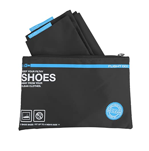 Flight 001 Go Clean Shoes Packing Bags, Black